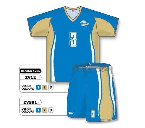 ZV12S-1205 Custom Sublimated V-Neck Volleyball Jersey