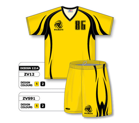 ZV12S-1214 Custom Sublimated V-Neck Volleyball Jersey