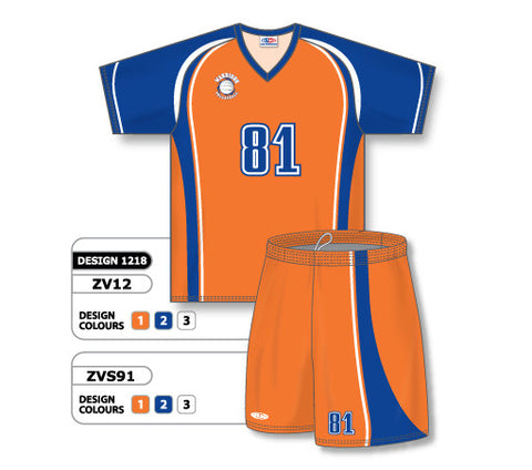 ZV12S-1218 Custom Sublimated V-Neck Volleyball Jersey