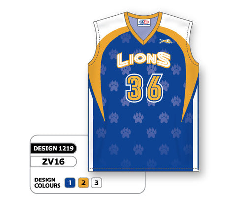ZV16-1219 Custom Sublimated Ladies Sleeveless Volleyball Jersey