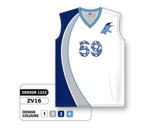 ZV16-1222 Custom Sublimated Ladies Sleeveless Volleyball Jersey