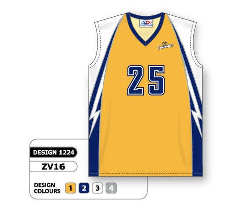ZV16-1224 Custom Sublimated Ladies Sleeveless Volleyball Jersey