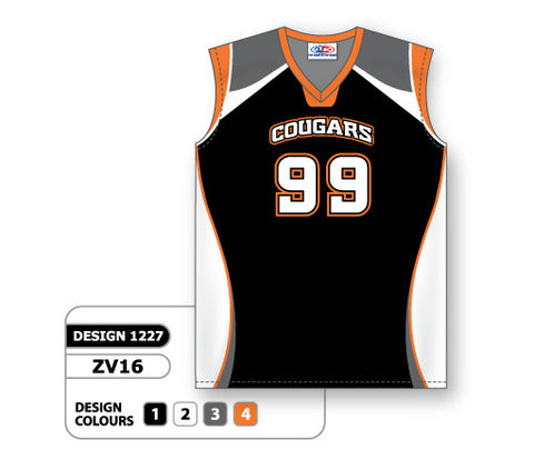 ZV16-1227 Custom Sublimated Ladies Sleeveless Volleyball Jersey