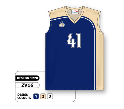 ZV16-1228 Custom Sublimated Ladies Sleeveless Volleyball Jersey