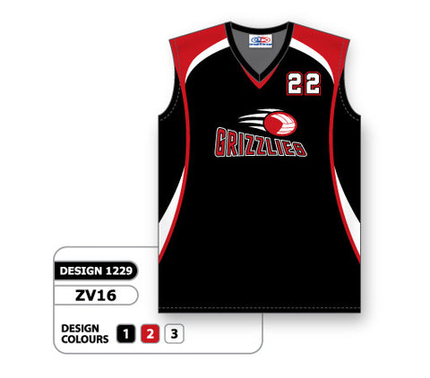 ZV16-1229 Custom Sublimated Ladies Sleeveless Volleyball Jersey
