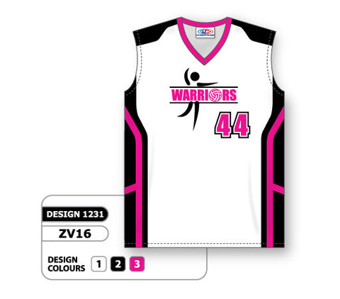 ZV16-1231 Custom Sublimated Ladies Sleeveless Volleyball Jersey