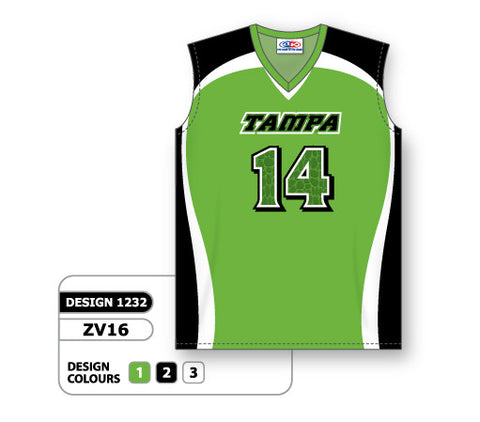 ZV16-1232 Custom Sublimated Ladies Sleeveless Volleyball Jersey