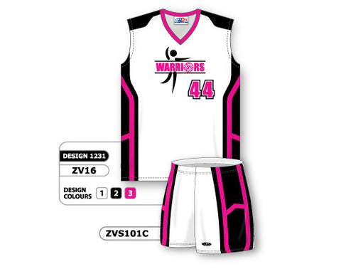 ZV16S-1231 Custom Sublimated Ladies Volleyball Uniform
