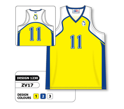 ZV17-1230 Custom Sublimated Ladies Racer Back Volleyball Jersey