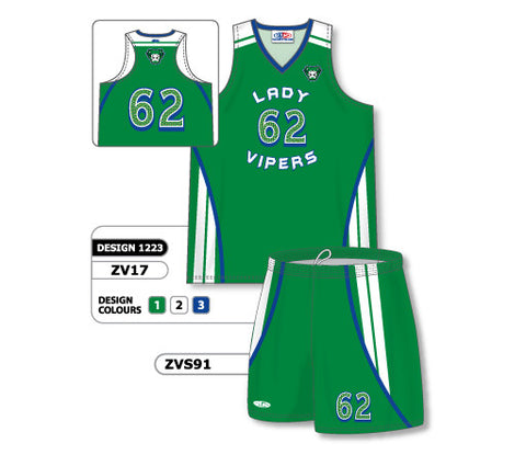 ZV17S-1223 Custom Sublimated Ladies Volleyball Uniform