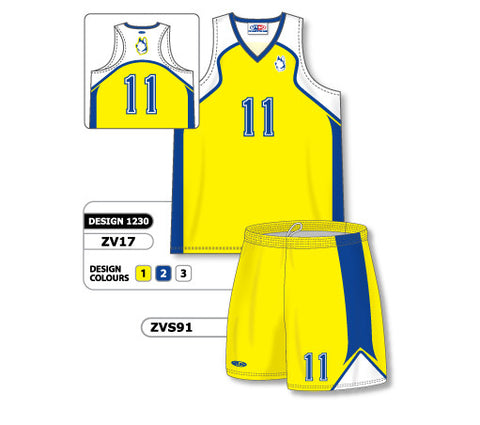 ZV17S-1230 Custom Sublimated Ladies Volleyball Uniform
