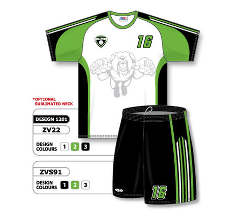 ZV22S-1201 Custom Sublimated Crew Neck Volleyball Jersey