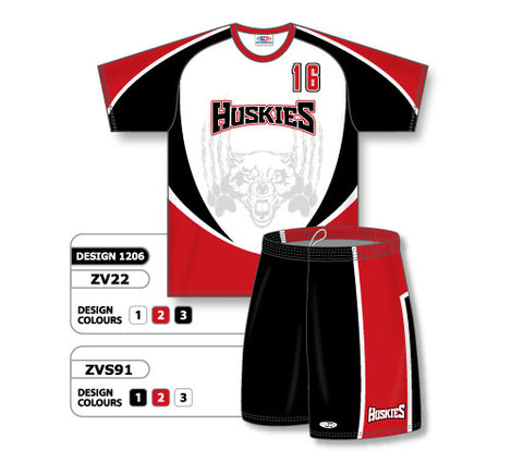 ZV22S-1206 Custom Sublimated Crew Neck Volleyball Jersey