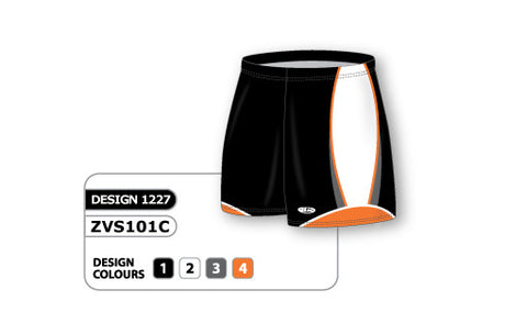 ZVS101-1227 Custom Sublimated Ladies Volleyball Short