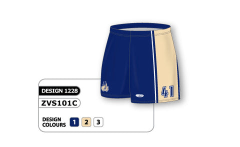 ZVS101-1228 Custom Sublimated Ladies Volleyball Short