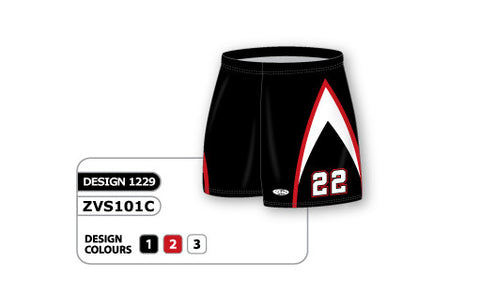 ZVS101-1229 Custom Sublimated Ladies Volleyball Short