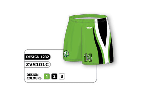 ZVS101-1232 Custom Sublimated Ladies Volleyball Short