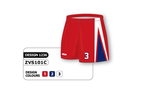 ZVS101-1236 Custom Sublimated Ladies Volleyball Short