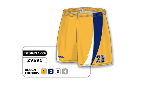 ZVS91-1224 Custom Sublimated Ladies Volleyball Short