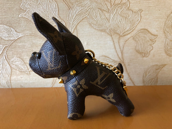LV Monogram Canvas French Bulldog bag charm/keychain