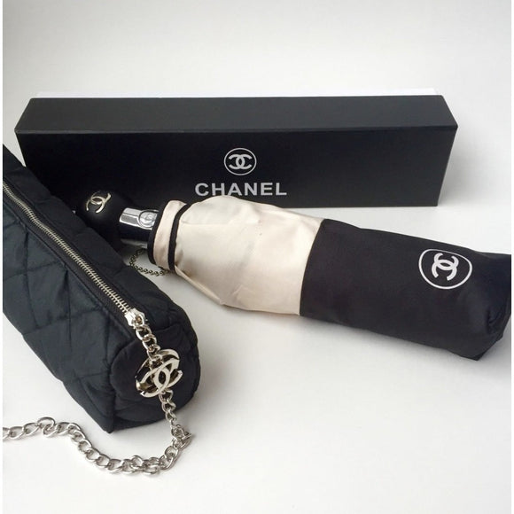 Brand new limited edition CHANEL umbrella with automatic opening and closing function - simply by pressing the button, gift for VIP customers.