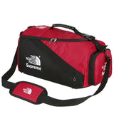 The North Face 'Supreme' Travel/Gym duffel bag.  Made from high quality polyester, got large capacity.