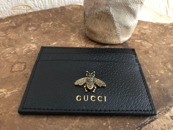 card case bee wallet gucci