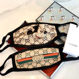 Mickey Mouse / Legendary Gucci Monogram design face mask – soft material is used for the earphones, which does not hurt the ears even during prolonged wear. The simple design conforms to the contour and combined with stretchy material fits most face sizes.