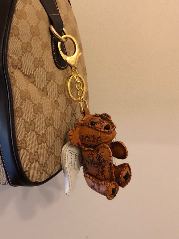 MCM Visetos Angel Bear Bag Charm / Keychain