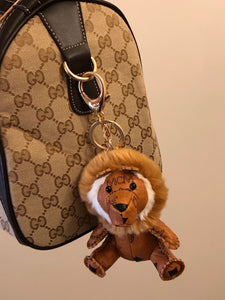 MCM Visetos Zoo Lion Keychain / Bag-charm