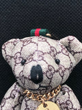 Gucci Monogram Teddy Bear Keychain / Bag-charm