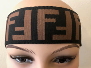 FF Fendi Headband in Black and Brown