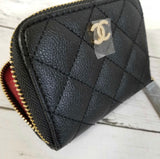 CHANEL Small Zip Wallet/ Coin Purse
