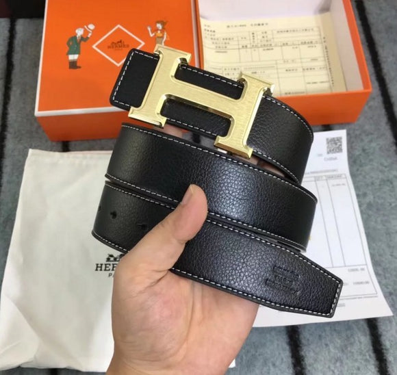 HERMES H belt buckle & Leather strap
