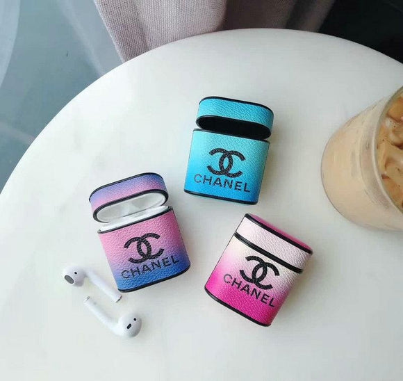 Chanel airpod case pu leather protectiv case