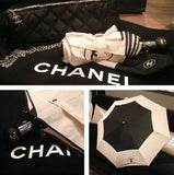 This umbrella is not available to purchase in any Chanel stores as it is a gift for CHANEL VIP customers with large purchases. Classy, unique and cheapest price for excellent piece on the market only here.