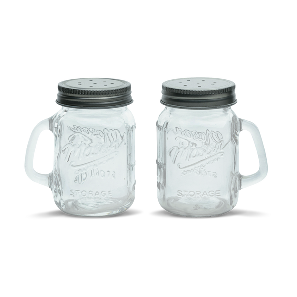 4 pack Mason Glass Salt and Pepper set