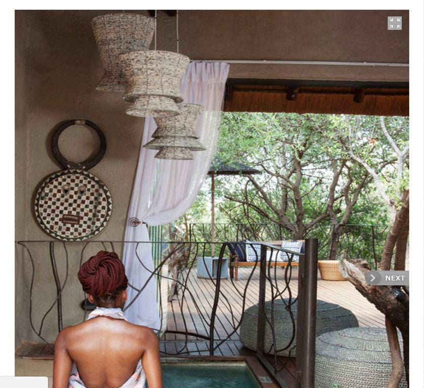 African lighting. safari spa. lodge decor