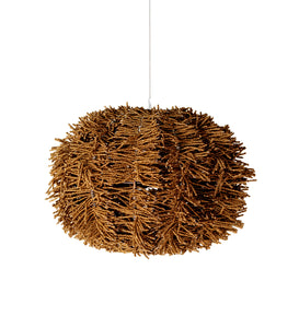 modern copper coloured pendant chandelier. texture lighting