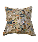 Iconic SA cushion cover 60x60. south african fabric. alex latimer. madiba. marmite. eet sum mor.
