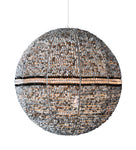 sphere pendant light with zulu beads and crystals. pendant lights south africa. african lights