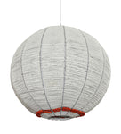 sphere pendant light with recycled glass trim for added texture or to match interior design palette