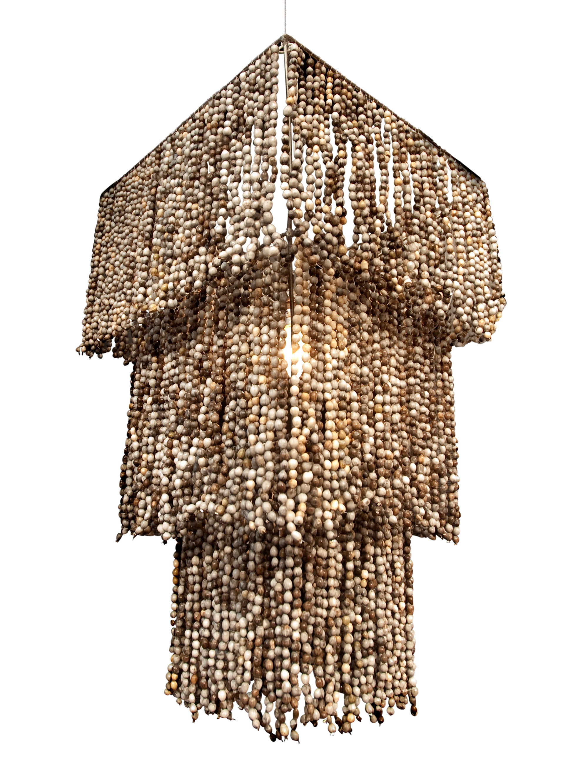 3 tier square zulu seeds chandelier. tiered chandelier. tiered light