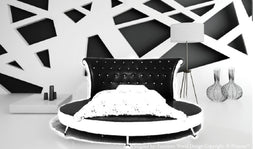 Contemporary  Princess Leather Circle Bed