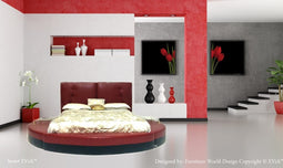 EVIA a Contemporary style Apple and Black Color