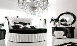 Contemporary white color Circle Bed