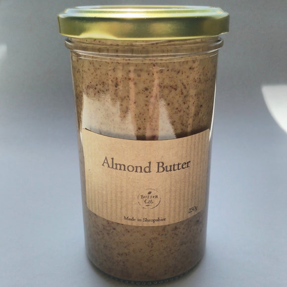 Butterbelle almond nut butter 250g jar-Nut & seed butters-Plastic Free Pantry UK