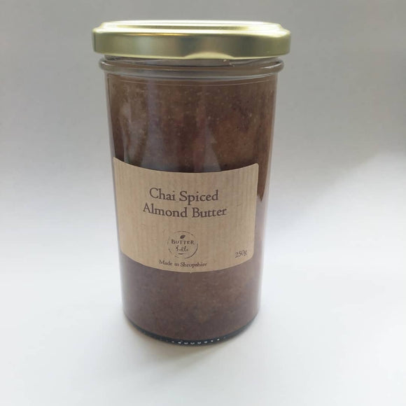 Butterbelle chai spiced almond butter 250g jar-Nut & seed butters-Plastic Free Pantry UK
