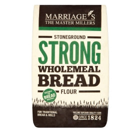 Marriage's organic wholemeal stone ground strong bread flour-Baking ingredients-Plastic Free Pantry UK