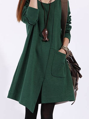 Chic Korean Style Leisure Long Sleeves Cotton Trench Coat
